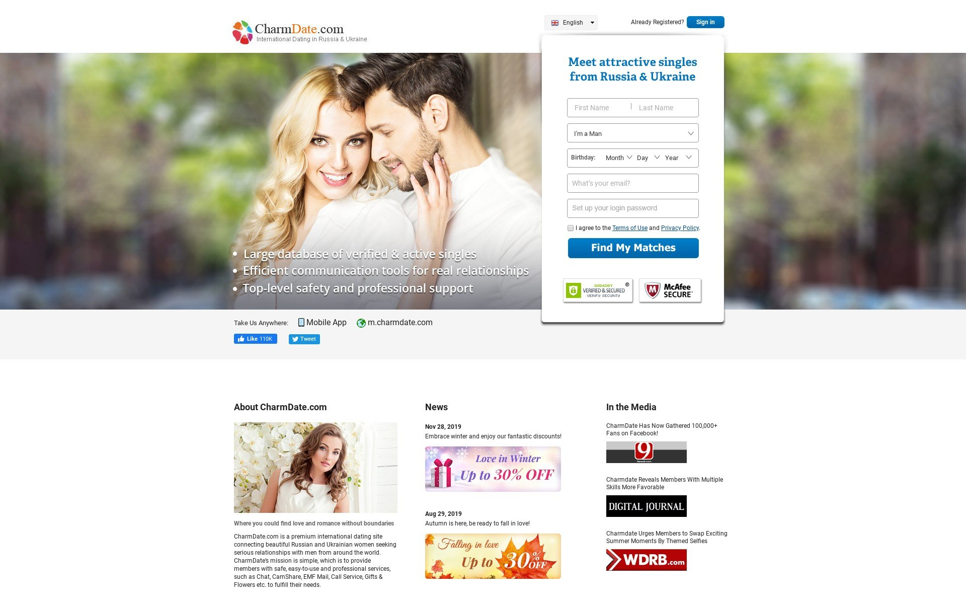 Charm Date Dating Site