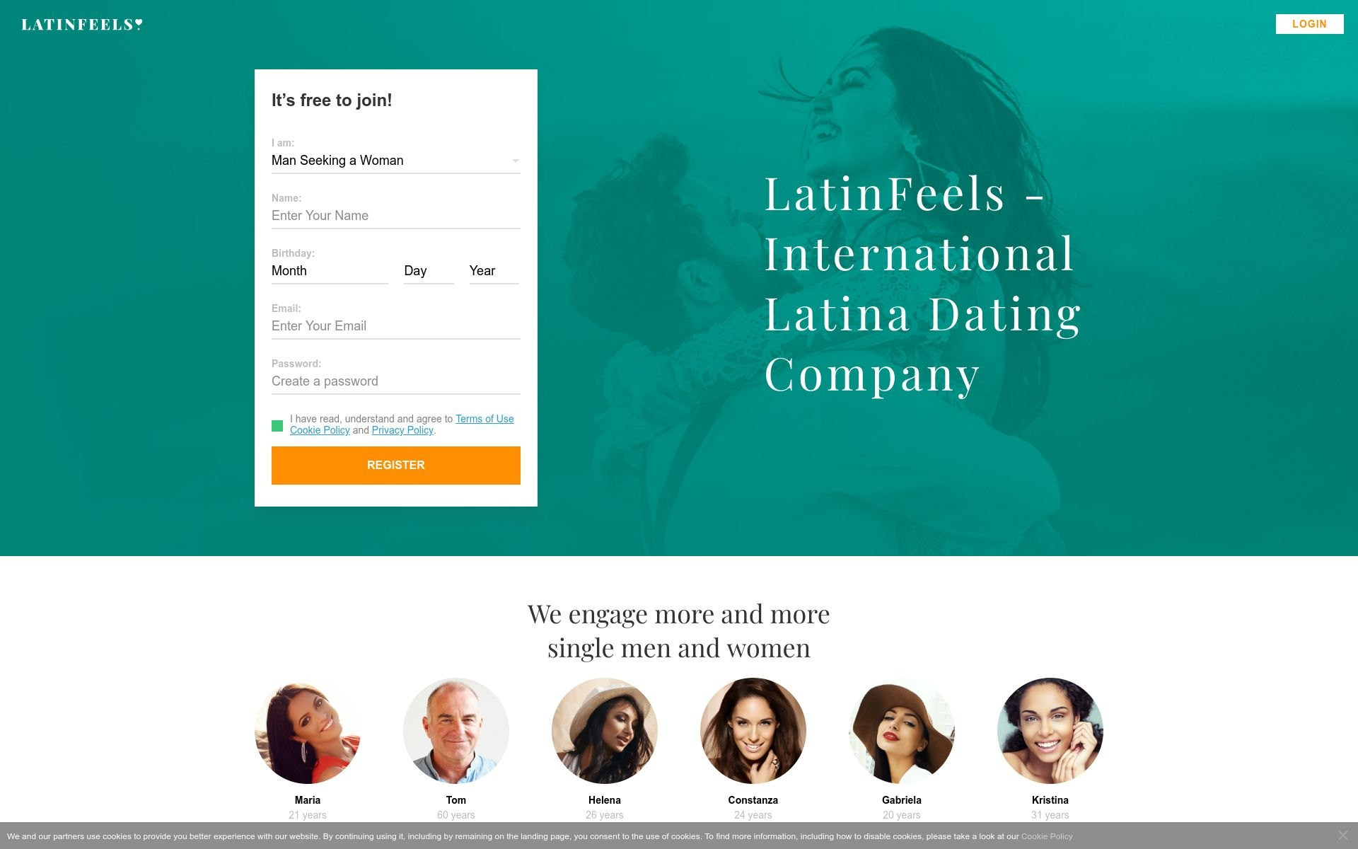 Latin Feels Dating Site
